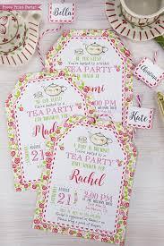 Tea Invitations Printable Tea Party Invitation Printable Press Print Party