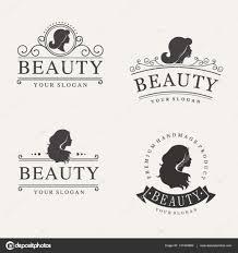 Vintage Logo Vector Vector Vintage Logo Set For Beauty Salon Hair Salon Cosmetic