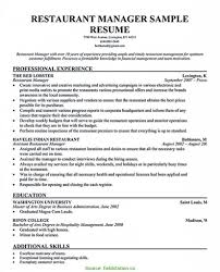 Cover Letter Restaurant Managerume Examples Bar Service Sample
