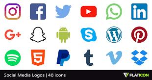 social media logos. social media logos flaticon