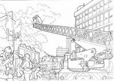 Small Picture LEGO Firefighter Coloring Pages Fire Engine with Fire Boot