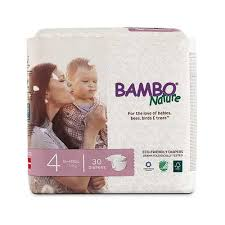 Bambo Disposable Eco Diapers Size 4 15 40 Lbs 7 18 Kg