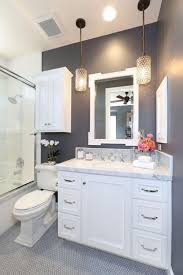 lighting for small bathrooms. Beautiful-small-bathroom-remodelling-with-hanging-white-cabinet-sink Lighting For Small Bathrooms D