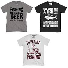 triple pack of mens fishing angling themed t shirts