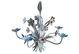 fl vintage tole chandelier italy