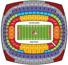 Arrowhead Stadium Kansas City Chiefs Seating Chart Concerts