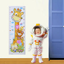 Cartoon Pvc Kids Wall Growth Chart Sticker