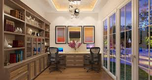 office at home. Modern Office For Two At Home T