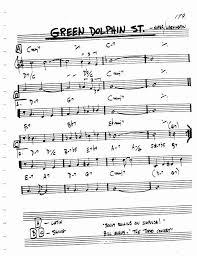 Green Dolphin Street Chart Jazz Standard Realbook Chart Green Dolphin Street En 2019