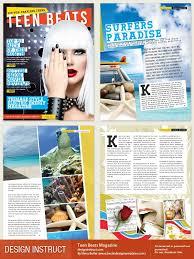 Indesign Magazine Templates Free Indesign Magazine Template Teen Beats Magazine