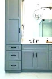 bathroom vanity storage tower diy bathroom countertop