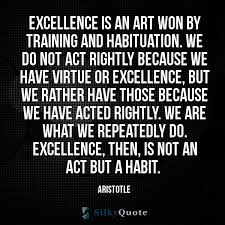 Aristotle Excellence Quote Beauteous Training Quotes Silky Quote