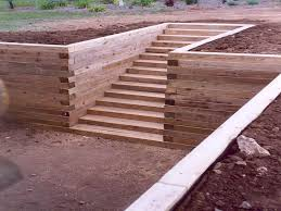 walls how to build wood retaining wall landscape