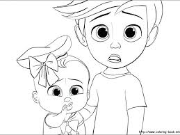 Boss Baby Coloring Pages At Getdrawingscom Free For Personal Use
