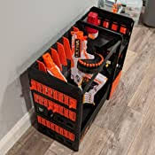 3.9 out of 5 stars. Amazon Com Nerf Elite Blaster Rack Storage For Up To Six Blasters Including Shelving And Drawers Accessories Orange And Black Amazon Exclusive Toys Games