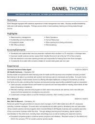 Best Licensed Insurance Sales Agent Resumes Resumehelp