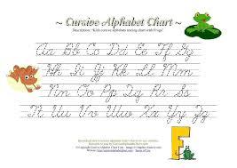 Cursive Alphabet Chart Google Search Cursive Alphabet