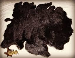 faux buffalo hide area rug brown luxury fur realistic 5 x 8 fur accents