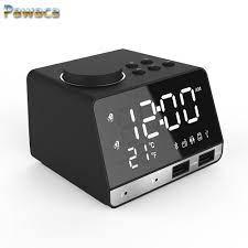 Çok İşlevli Bluetooth Hoparlör Elektronik Termometre Müzik Çalar Saat  Dilsiz LED Işıkları Ile Sıkın Radyo, Arka Masa Saati Alarm Saatler -  I.perfectorigins.co