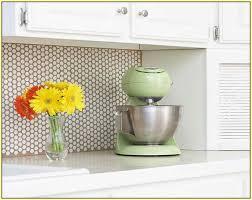 Innovative Ideas Penny Tile Backsplash Sweet Looking Round Kitchen Home  Design A