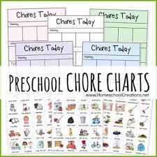 Free Preschool Chore Charts Subscriber Freebie