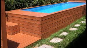 Selected Rectangle Above Ground Pool With Deck Design Idea From
