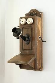 old wall telephone hand crank wall phone by rocky pix telephone jack wall plate cover