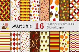 Fall Patterns Impressive Autumn Digital Paper Fall Patterns Wi Design Bundles