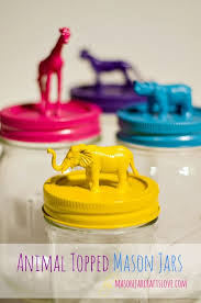 Cute Jar Decorating Ideas Animal Topped Mason Jars Room crafts Mason jar crafts and Jar 88