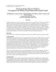 Design Structure Matrix Methods Pdf Clustering Design Structure Matrices A Comparison Of