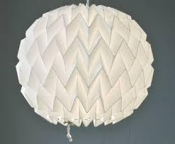 Bubble: Origami Paper Lamp Shade / Lantern - White. $40.00, via Etsy.