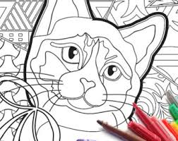 Small Picture Cat coloring page Etsy