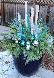 outdoor planter ideas blue and white winter planter outdoor planter ideas