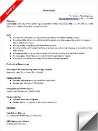 A C Technician Resume Examples Examples Resume Resumeexamples