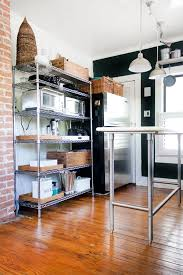 kitchen wire shelving. Appliance Storage - Apartment Therapy Kitchen Wire Shelving E