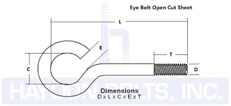 Eye Bolt Load Chart Eye Bolts Haydon Boltshaydon Bolts