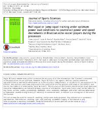pre season variations in aerobic fitness and performance in elite standard soccer players a team study carlo casna request pdf
