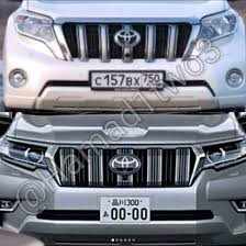 toyota prado 2018 new model. 2018 toyota land cruiser prado facelift front fascia leaked new model h