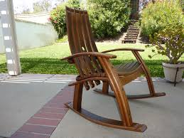 outside furniture ideas. Best And Popular Adirondack Rocking Chair: Cool Chair Design Ideas With Natural Brown Outside Furniture S