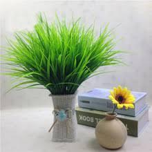 36cm High Simulation Plant Plastic Grass 7 Fork Spring Bonsai ...