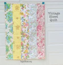 Vintage Sheet Lap Quilt {make it + gift it} — Sugar Beans & Vintage Sheet quilt for lap blanket. SugarBeans.org Adamdwight.com