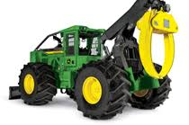 cable and grapple skidders from john deere front view of the 948l grapple skidder coming up over a hill