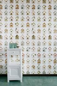 Vogelhuisjesbehang Van Studio Ditte Dit Originele Behang Fleurt