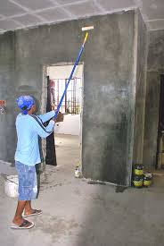 applying concrete neutralizer