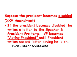 article ii the executive branch qualifications qualifications  suppose the president becomes disabled xxv amendment if the president becomes disabled he