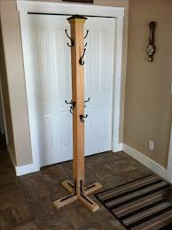 Free Standing Coat Rack Design Plans Cool Free Standing Post Base How To Build A Coat Tree Stand