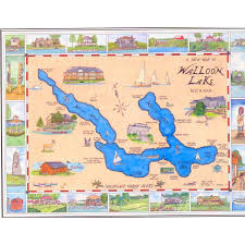 Map Of Walloon Lake Mi My Mom In Law Lives On That Lake