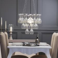 11 dining room lights uk litecraft wine glass chandelier 3 tier silver contemporary dining room