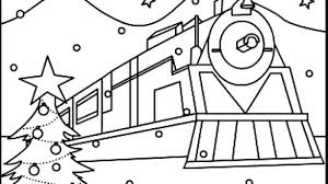 Polar Express Coloring Page Coloring Kids