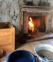 iron skillet cooking classes call for lighting the fire first and drawing water from the well